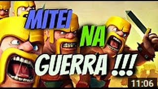 Mitei na guerra CV 11 mais full do BRAZIL (Clash of Clans)