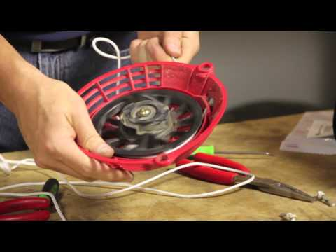How to Replace a Pull String on a Push Mower : Lawnmower Maintenance & Repair