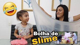 DESAFIO DA BOLHA GIGANTE DE SLIME | GIANT SLIME BUBBLE (ft. JAQUELINE SOBRINHO) -  ARIELA BIBI