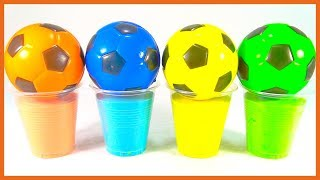 Learn Colors with Surprise Soccer Balls - Magic Liquids for Children Toddlers
