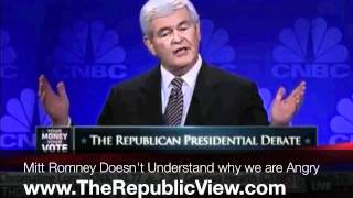 Why is Newt Gingrich so Angry? What Does He Hate?
