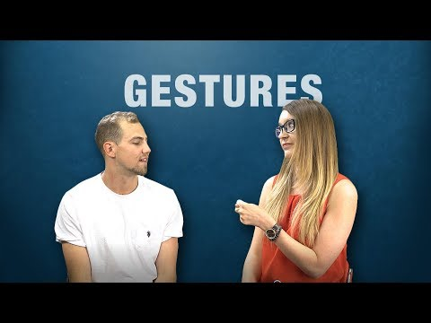 Gestures Around the World: English-Speakers React