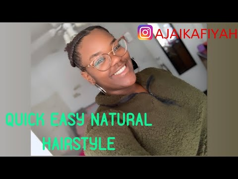I Tried Another Quick NATURAL Hairstyle | HELP!! Idk What To Do Next 🤦🏾♀️ | Ajai Kafiyah