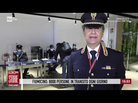 Coronavirus, Fiumicino: 8000 persone in transito ogni giorni - Storie italiane 27/03/2020