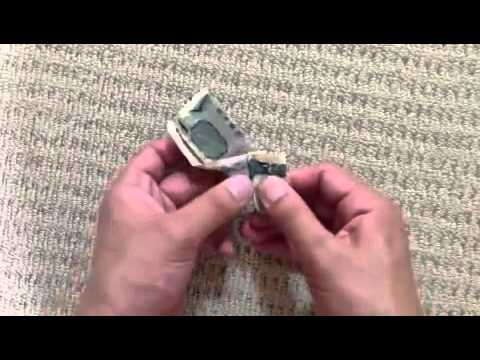 How to make a origami Bill thousand-yen bill turban Noguchi