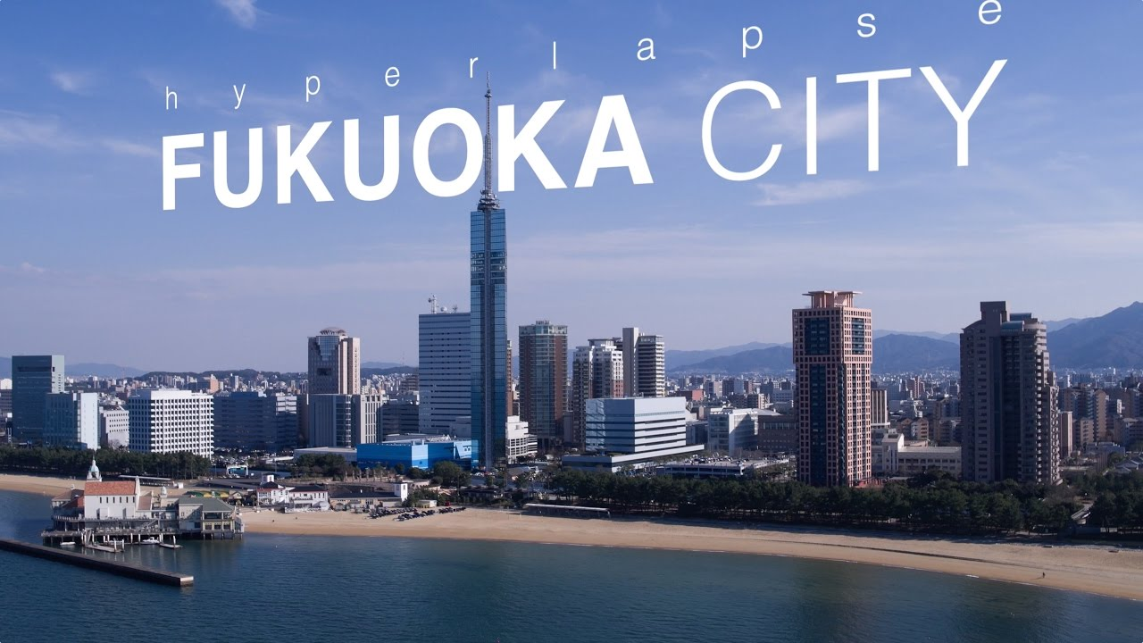 hyperlapse fukuoka city japan 4k ultra hd ���� full ver