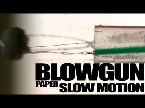 Blowgun Paper in SlowMotion at 4000 fps (Macro)