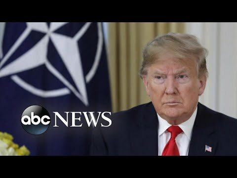President Trump arrives in UK for NATO summit | ABC News