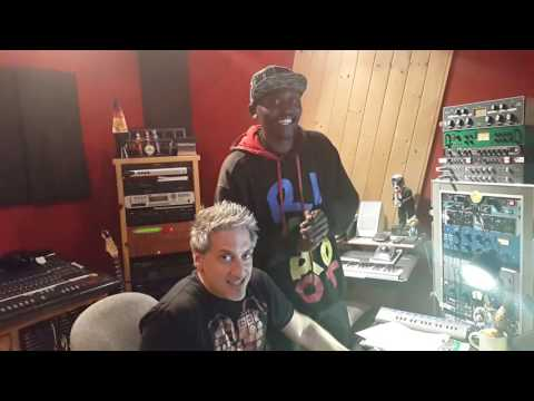 B Flow in studio with Michael Jackson's Producer Thom Russo in Hollywood pt1 - B Flow