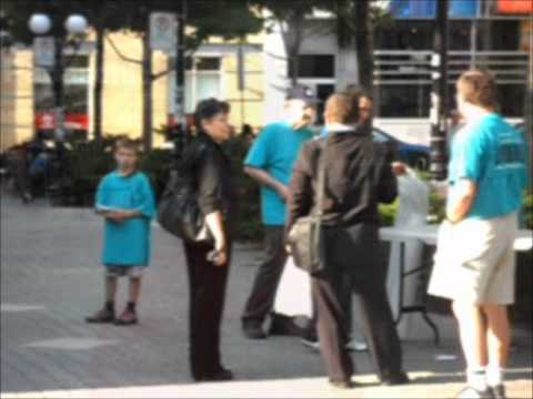 Scientology Loses Control - Quebec City Protest
