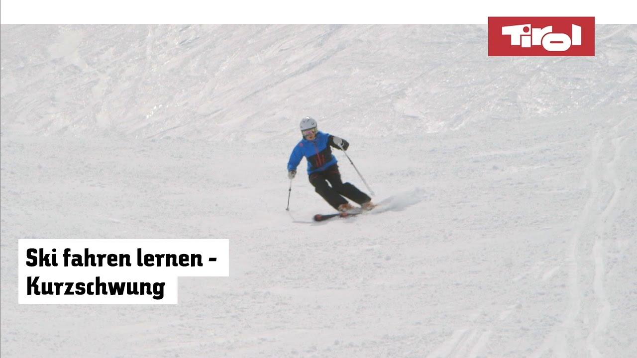 Skifahren technik kurzschwung lernen tirol in Österreich youtube
