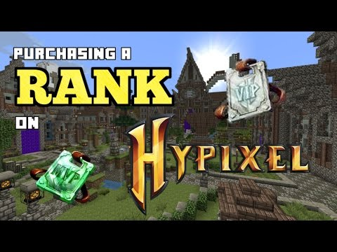 Purchase Rank On Hypixel Less Than One Minute
