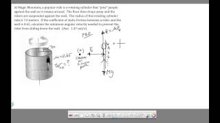 Ch 7 - Circular Motion - Spin Out Problem