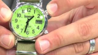 St. Leonhard Solar-Funk-Armbanduhr im Fliegeruhren-Style