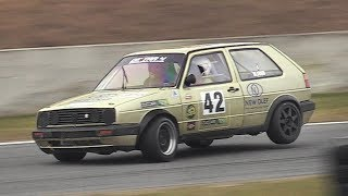 250HP Volkswagen Golf Mk2 w/ Paddle Shifters Racing on Track: 2.0 GTI Mk3 Engine + ITBs!