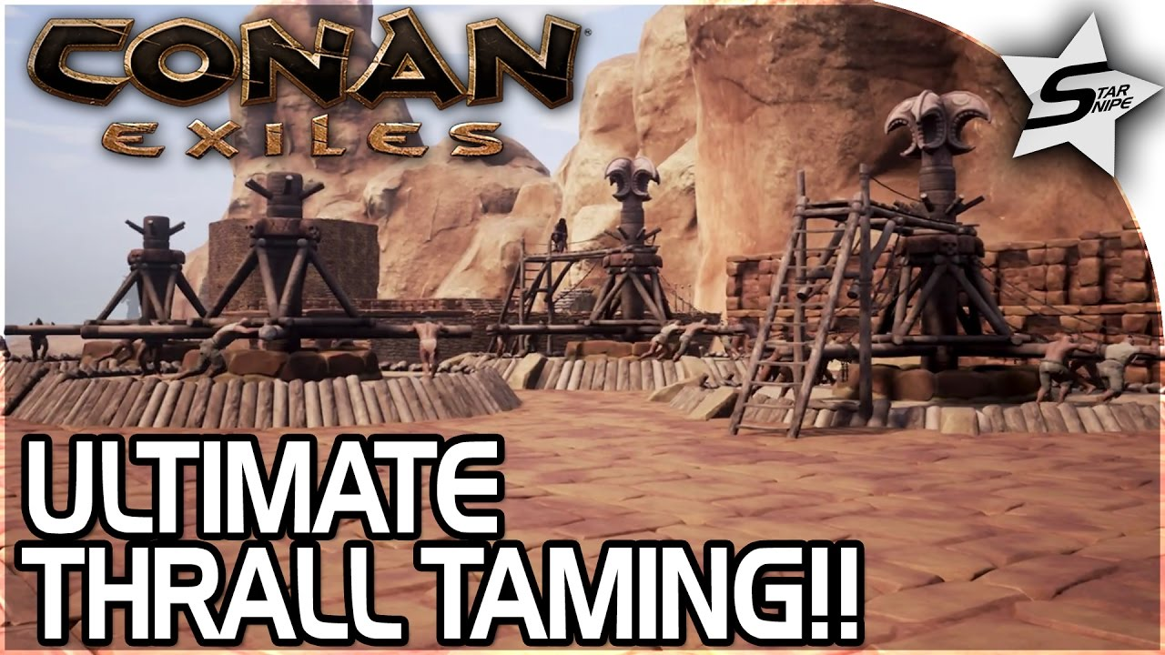 THE ULTIMATE THRALL TAMING BASE!! - CORRUPTED CITY!! - Conan Exiles  Gameplay Part 24