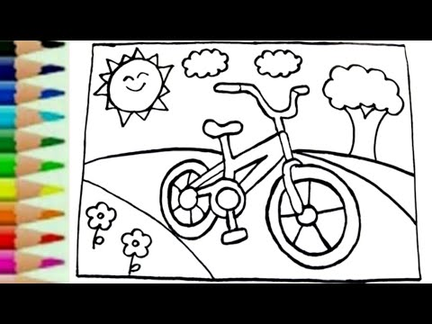 Belajar Menggambar Sepeda Dan Mewarnai Untuk Anak Youtube