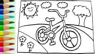 Belajar Menggambar Sepeda Dan Mewarnai Dengan Spidol Youtube
