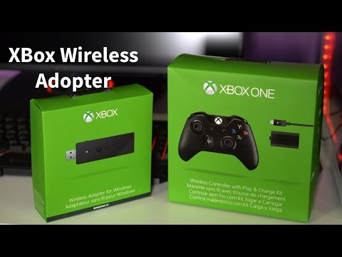 XBox Wireless Adopter - Unboxing & How To Use It With PC & XBox One Controller