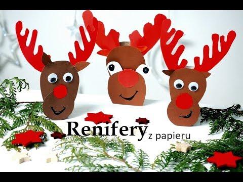 Renifer Z Rolki Od Papieru Prace Plastyczne Na Boże Narodzenie Renifery Moje Dzieci Kreatywnie
