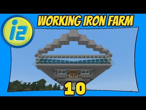 Building A Simple Iron Farm   10   Infiniverse 2.0 [Minecraft Bedrock Edition] [MCPE]
