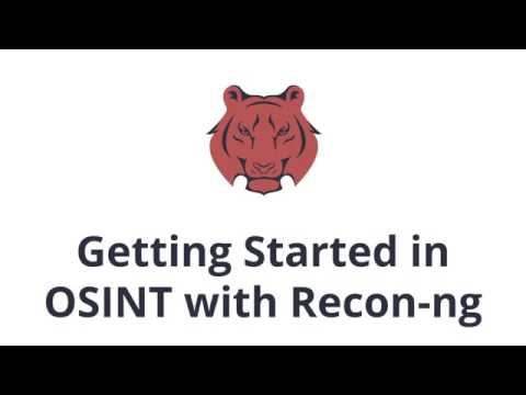 Recon-ng Tutorial: Introduction to OSINT