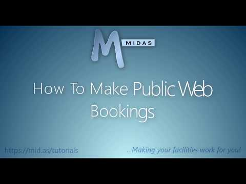 MIDAS: How To Make Public Web Bookings