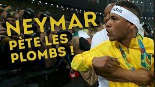 Neymar pète les plombs contre un supporter... | JO 2016, Brésil-Allemagne