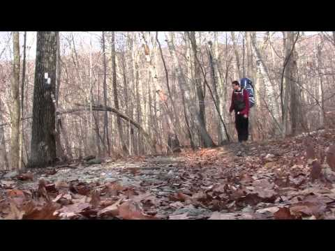 Alander Mtn hiking and camping in Massachusetts during fall