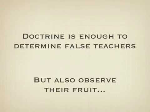False Teaching and Correcting Error