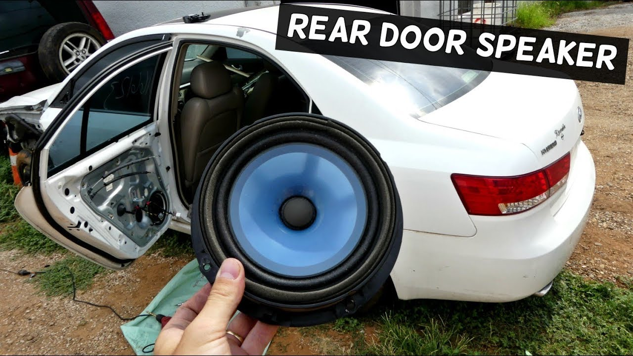 How To Remove And Replace Rear Door Speaker On Hyundai Sonata