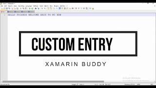 Xamarin أشكال مخصصة الحدود تقريب دخول