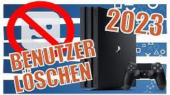 PS4 Benutzer Löschen - Account löschen