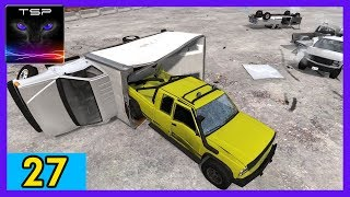 BeamNG drive - Demolition Derby #27 - Yellow 4x4 Truck vs Trucks & Vans