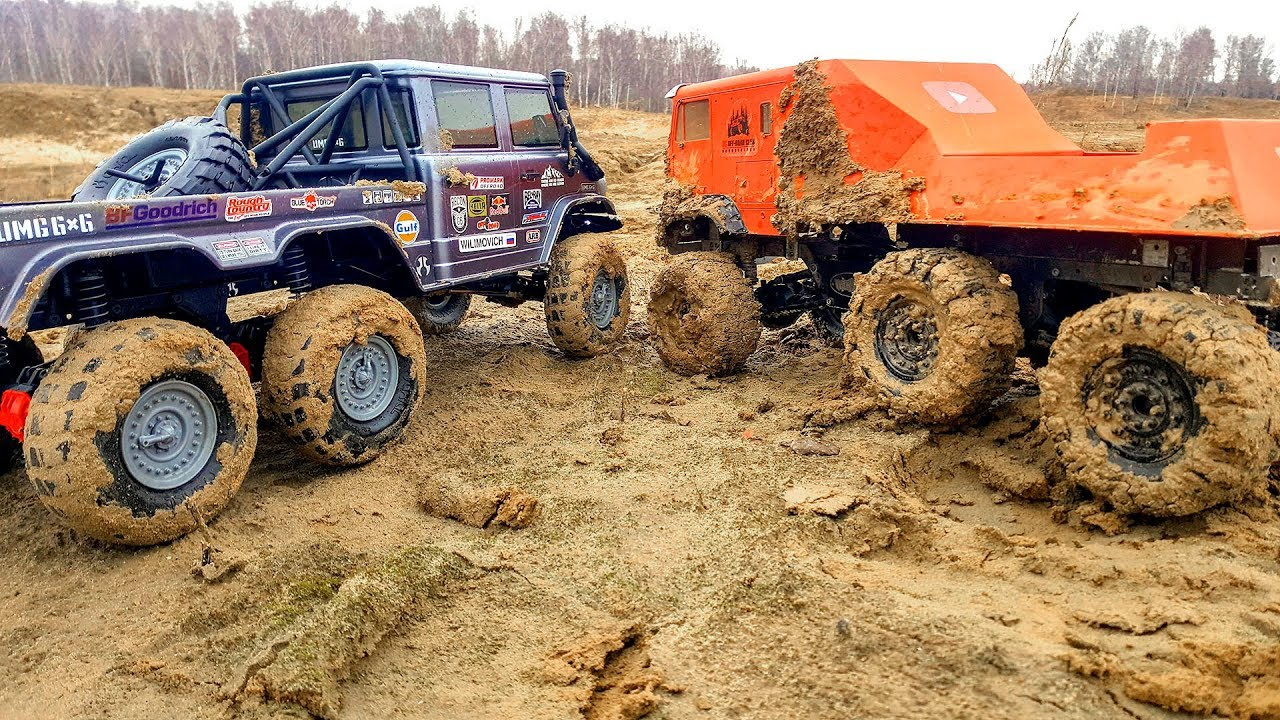 RC Cars Axial 6x6 VS The Beast 6x6 OFF Road Extreme  Wilimovich