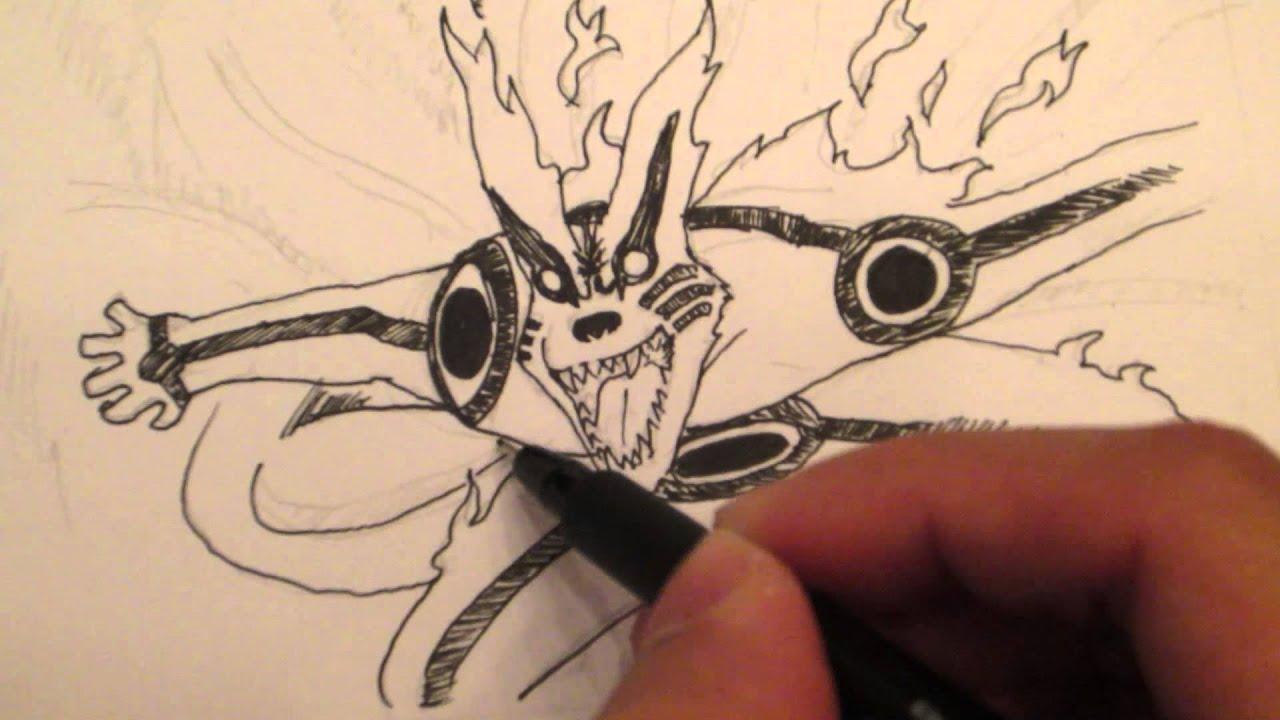 Drawing No Jutsu How To Draw Naruto Kyuubi Bijuu Mode