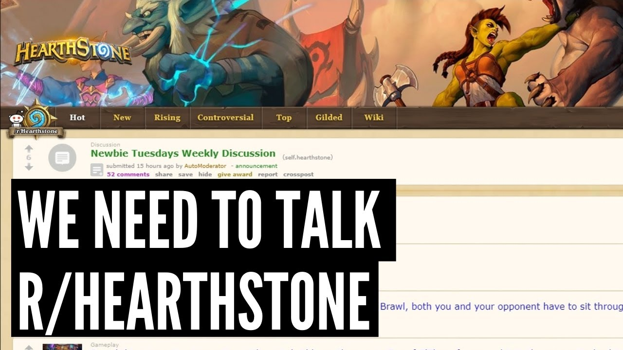 Setting the record straight. An open video to the Hearthstone Subreddit.
