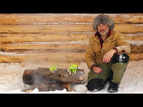 Sauna Build Alone with My Dog in a Snowstorm | Bottling/Canning Meat over Fire