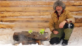 sauna-build-alone-with-my-dog-in-a-snowstorm-bottling-canning-meat-over-fire