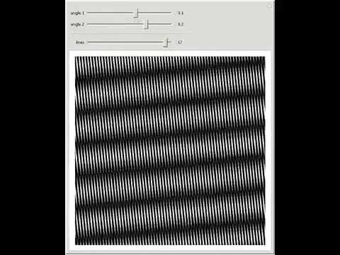 moire pattern of two straight line patterns