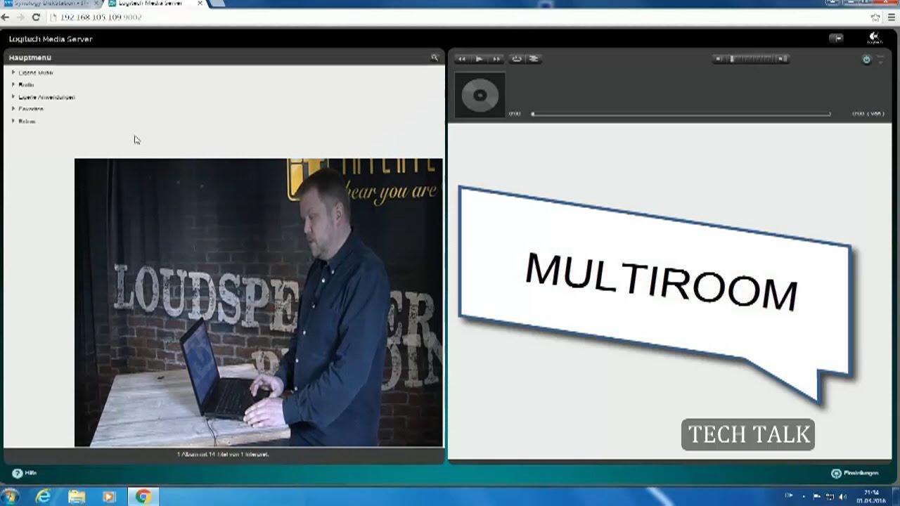 Multiroom Streaming mit NAS Server und Verstärker, (Teil 2) - YouTube