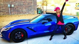 Wife Gets 2014 CORVETTE STINGRAY Z51 Surprise On Christmas !!!