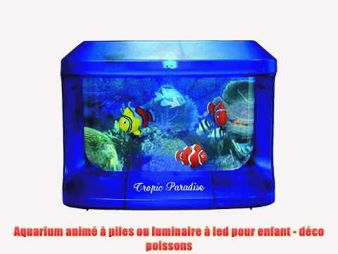 Aquarium anim piles ou luminaire led pour enfant for Led a pile pour deco