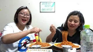 vuclip Korean hot spicy Ramen challenge (me n my friend Manju ) Tokyo