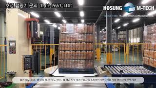 (호성엠테크) 전자동 파렛트 랩핑기 / 자동랩핑기 / …