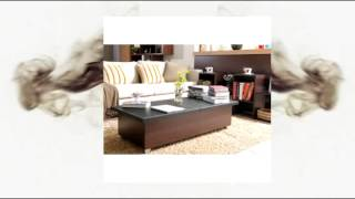 Leatherette Top Leather Coffee Table. This Beautiful Space Saving Living Room Storage Table Is