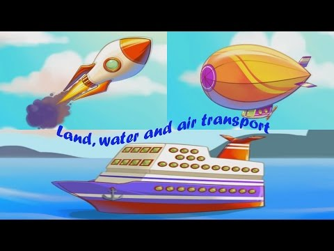 Land, water and air transport for kids. History of transport for kids.
