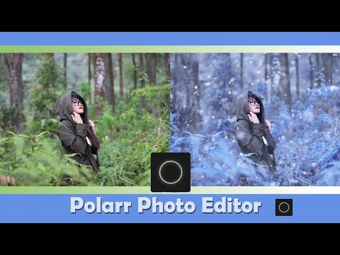 Mudah Dan Keren , Cara Edit Foto Pakai Hp  || Polarr Photo Editor