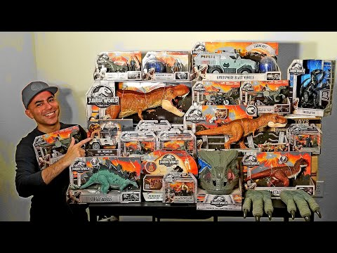 EPIC Jurassic World Toys COMPLETE SET Wave 1 Review! All Fallen Kingdom Toys From Mattel!
