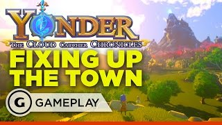 Yonder: The Cloud Catcher Chronicles - Helping to Fix Up the Town Gameplay